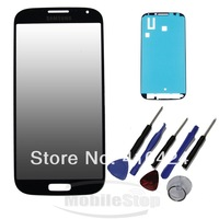 NEW Black Front Replacement Screen Glass Lens for Samsung Galaxy S4 I9500 9505 i337 + Tools and  ADHESIVE