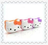 Free ship Hello Kitty  Kitty Cat Portable HIFI Mini Speaker MP3 Player Amplifier Micro SD TF Card USB Disk Computer Speaker