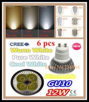 Free shipping 6 pcs Dimmable CREE 12W 9W GU10 E14 E27 MR16 B22 GU5.3 Led spotlight downlight bulb lamp led light led lighting