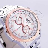Free Shipping CURREN 6527Luxury brand Fashion Watches men Quartz Watches man full steel watch 2014 Fashion Watches