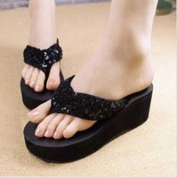 lady's Sequins sandal,women Beach home flip flops slippers flat sandals FREE SHIPPING