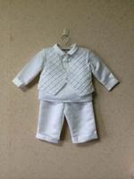 branded white baby boy clothing set for party boy's baptism clothing 2pcs set babywear free shipping