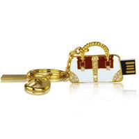 wholesale  China cheap Crystal handbag keychain Jewelry USB 2.0 Flash Memory Pen Drive Stick pen key 4G 8G 16G 32G u disk