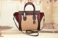 Classic Genuine Leather (Cow leather & Cow suede) Women Trapeze Bag / Designer Fashion Trapeze Bag with 3 Optional Size (BG301)