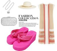 AliExpress sale 2014 new fashion cute candy colored dots Bohemian Casual flip flops girl gifts E30