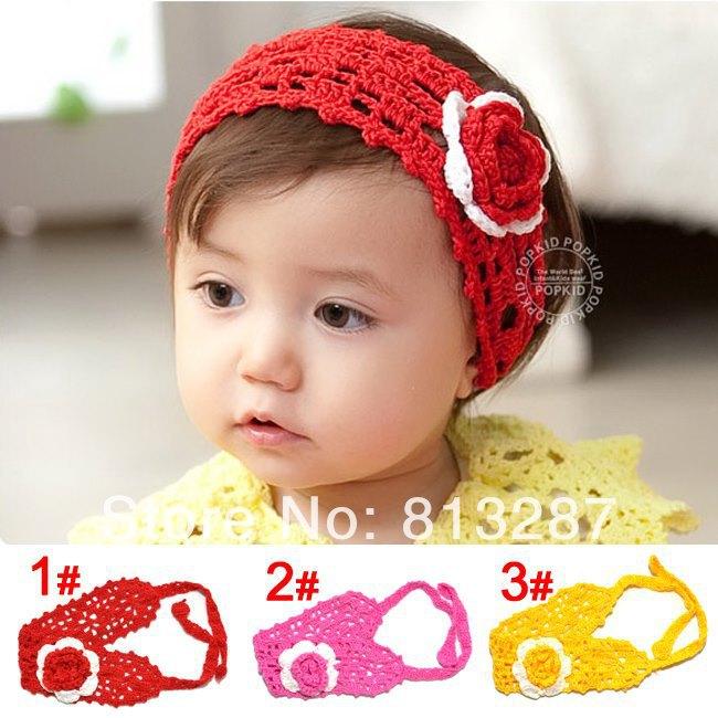 Crochet Pattern Central Baby Headbands : 10 pc beb? novo handmade malha headbands infantis headband ...