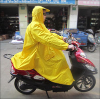 Motorcycle electric bicycle poncho with sleeves raincoat plus size high quality lengthen thickening nylon