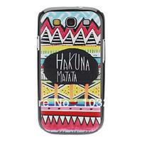 HAKUNA MATATA Pattern Hard Case Cover for Samsung Galaxy S3 I9300
