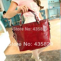 Hot sale:2014 Women's  Fashion vintage big bag casual messenger bag Pu shoulder handbag