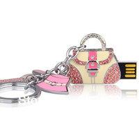 wholesale China Bling Crystal jewelry handbag usb flash drive 4g 8g 16g 32g handbag keychain usb stick pen drive memory disk