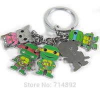 10 Sets Teenage Mutant Ninja Turtles Keychains & Pendants Anime Classic Toys Free Shipping