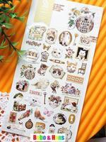 New 1 pcs/set cute cats friend life style paper sticker / Decoration label / Wholesale