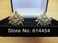 Masonic Cufflinks C02B Mason Freemason Velvet Boxed