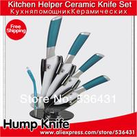 """3"""" 4"""" 5 """"6""""inch 4 color Handle Can Select Ceramic Knife Set + Peeler + Holder kitchen ceramic knives"""
