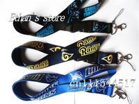 FREE SHIPPING St. Louis Rams&carolina panthers&Lions Football Key lanyard  ID holders  Mix order