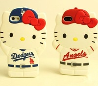 New style Baseball cap cartoon Hello kittyyy silicon soft protective case for iphone 5 5 s
