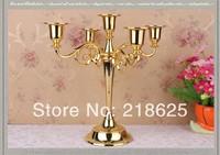 5-branch big candelabra gold and sliver,table candlestick,Plating alloy candlestick, home decoration, European style candelabrum