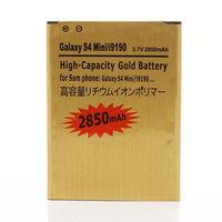 10Pcs/Lot High Capacity 2850mAh Gold Battery For Samsung Galaxy S4 Mini i9190 i9192 i9195 i9198 Batterie Batterij Bateria