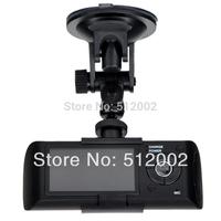 NEW Dual X3000 2.7'' HD Lens GPS Camera Car DVR G-Sensor Two Lens Vehicle BLACK