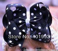 Free shipping 20pcs Mix 15colors Large Bow Polka Headband Newborn baby Infant bow Photo Prop Hairband Girl Hair Accessory 3019