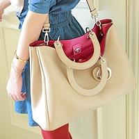Same paragraph Korean women bag handbag 2014 new spring tide HuoSiYan sweet retro bag handbag PU handbag