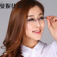 Myopia glasses  frame Women myopia titanium alloy ultra-light women's eyeglasses frame glasses