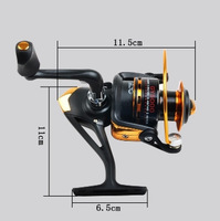 Free shipping front drag spinning reels GY-4000 metal fishing tackle 8BB  gear ratio 5.5:1fly fishing tool fishing equipment