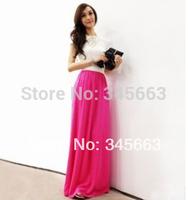 Hot Sale Women Sexy Chiffon Long Skirt High Quality 16 colours Nice Design  Skirts for Women Length 80cm