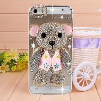 Cute diamond bear rhinestone Case for iPhone 5 case for iPhone 5s case Mobile phone cases Fashion phone bag