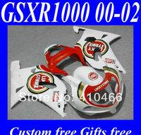 LUCKY STRIKE Fairing kits for SUZUKI GSXR1000 K2 00 01 02 GSXR1000 2000 2001 2002 Red white ABS Fairings set +7gifts SN52