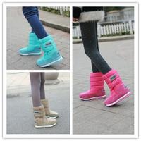 Sakura snow boots candy color medium-leg slip-resistant boots waterproof boots warm shoes