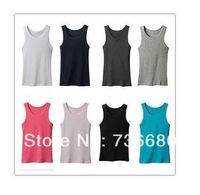 Mens Summer Tank Tops Casual Vest Cotton Tanks Sports & Slim Edging Design Printed Men's sleeveless shirt wholesale retail