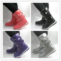 Rubber duck rubber duck snow boots japanned leather medium-leg slip-resistant waterproof boots