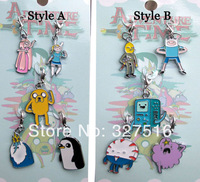 Adventure Time with Finn and Jake Toys  Anime Adventure Time Keychain Set Classic Toys  5pcs/set  Free Shipping