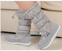 New arrival berber fleece snow boots gaotong slip-resistant waterproof boots cotton boots