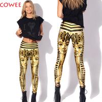 2014 Fashion  top sale Black Milk digital print womans fashion clothes women King Tut Leggings free shipping