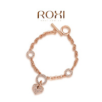 Wholesale ROXI Fashion Accessories Jewelry Full CZ Diamond Austria Crystal with SWA Element Heart Bracelet for Women