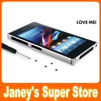 LOVE MEI Ultra Slim 0.7 Aluminum Metal Bumper For  Sony Xperia Z1