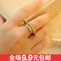 Free shipping 0579 fashion accessories geometry triangle square shape circle ring set finger ring piece set rings for women