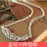 2871 accessories personalized all-match accounterment water wave full rhinestone cutout short necklace chain female