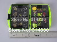 Rock Fishing Box Portable Fishing Tackle Case Set Soft Lead & Fishhook & Float