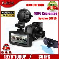 "Free Shipping Car DVR Camera G30 Novatek 96650 Full HD 1080P Night Visison 2.7""TFT 140 Degree View Angle Recorder 100% Guarantee"