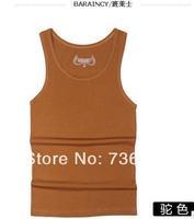 Free Shipping Mens Summer Good Quality Casual Vest Cotton Sports Slim Design  Men's sleeveless Pure13 Colorful Vest Shirt shirt