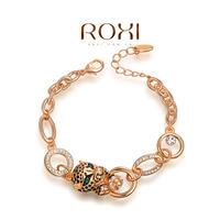 Wholesale ROXI Fashion Accessories Jewelry Full CZ Diamond Austria Crystal with SWA Element Leopard Bracelet for Women