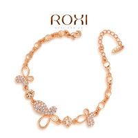 Wholesale ROXI Fashion Accessorie Jewelry Full CZ Diamond Austria Crystal with SWA Element Butterfly Bracelet for Women