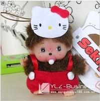 WJ148-4 Fashion Lovely Plush Stuffed Small Doll Toy 9CM Monchhichi Mobile Pendant Supernova Sale Baby Birthday Gift Wholesale