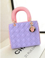 2014 summer new arrival candy color colorant match one shoulder cross-body portable women's handbag