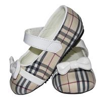 5Size Beige Girl flat shoes kids Girls grid shoes Girl hasp flats shoe 2014 spring,Autumn PU children's shoe kids