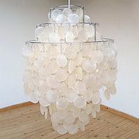 Verner panton fun verpan pearl shell pendant light