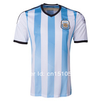 Free Shipping 2014 World Cup New Argentina soccer jersey Top Thailand Quality football shirt Uniform